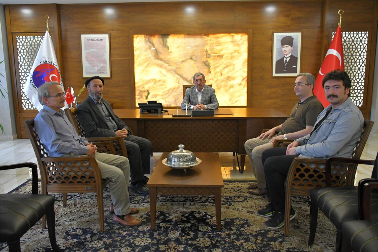Karabük Üniversitesi İlahiyat Fakültesi Dekanlığından Başkan Vergili'ye Ziyaret