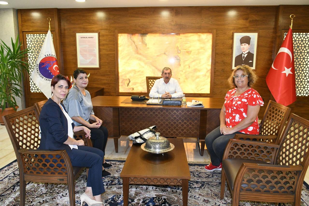 Şehit Mehmet Dinçel İlkokulu Okul Aile Birliği´nden Başkan Vergili´ye Ziyaret