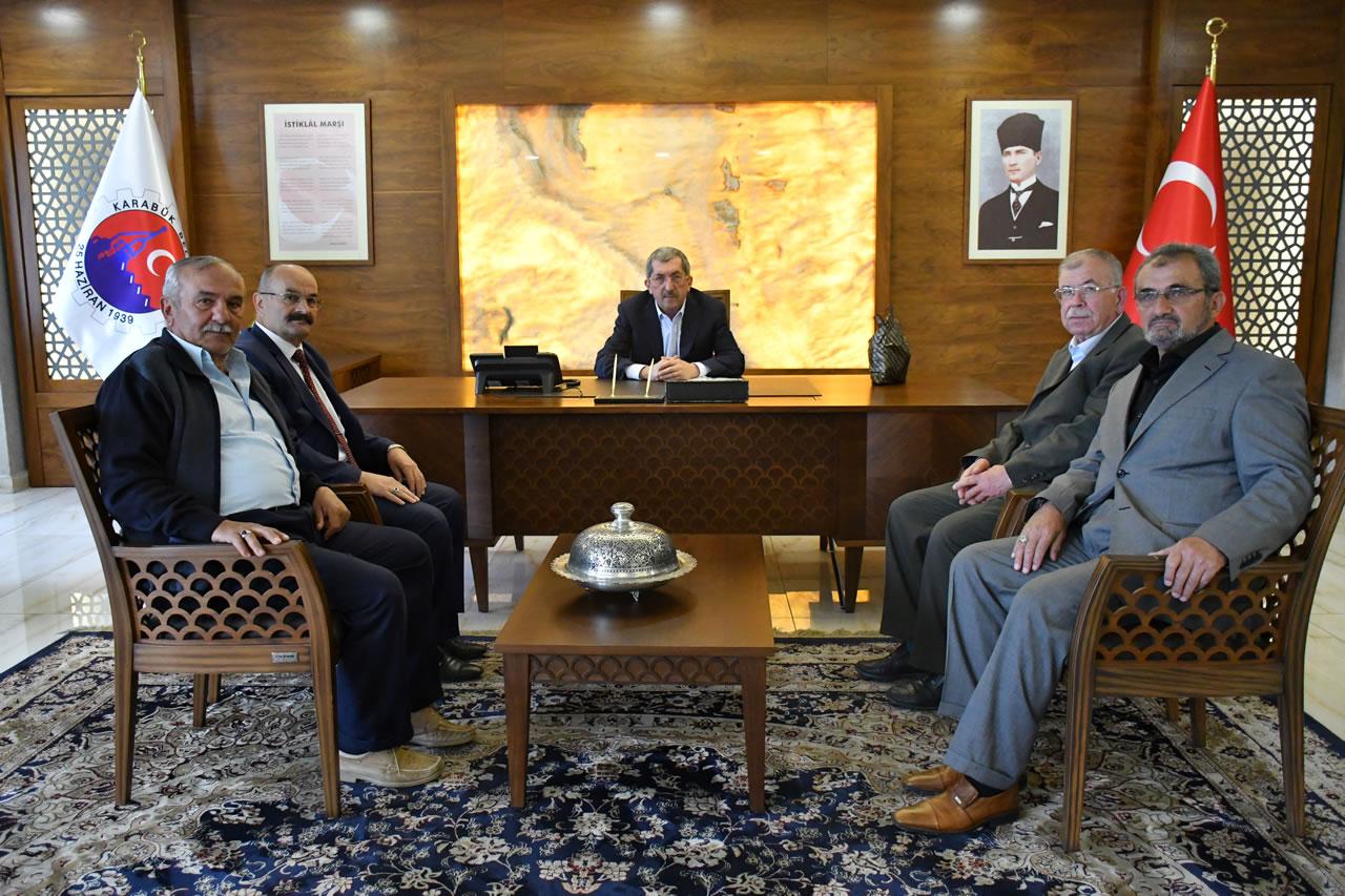 Ovacık Eski Belediye Başkan Adayı Bahri Eroğlu´ndan Başkan Vergili'ye Ziyaret