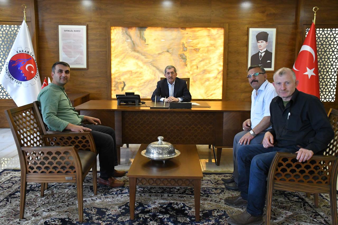 Yenice Sarayköy Muhtarı Birol Cıbır ve Azalarından Başkan Vergili'ye Ziyaret