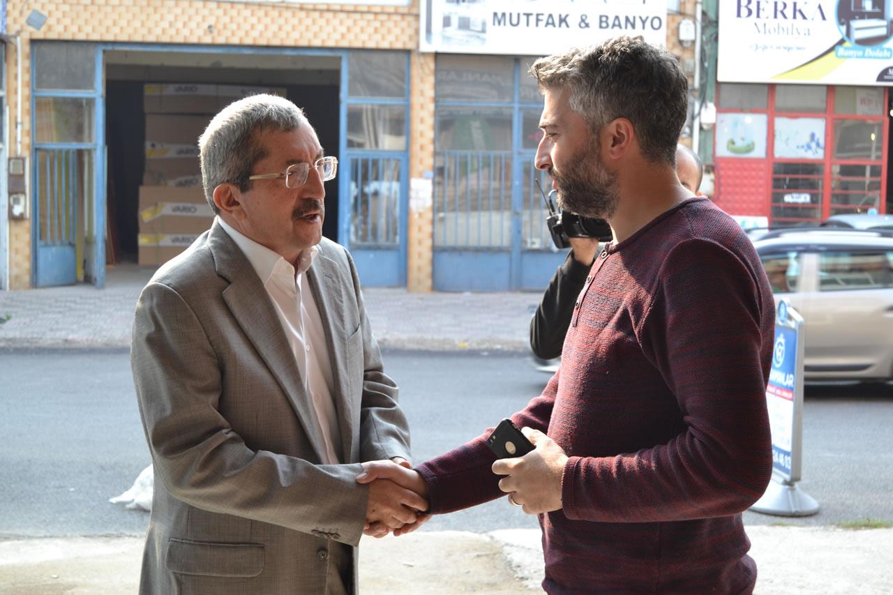 Başkan Vergili Bağ-Essan Sanayi Sitesi Esnaflarını Ziyaret Etti