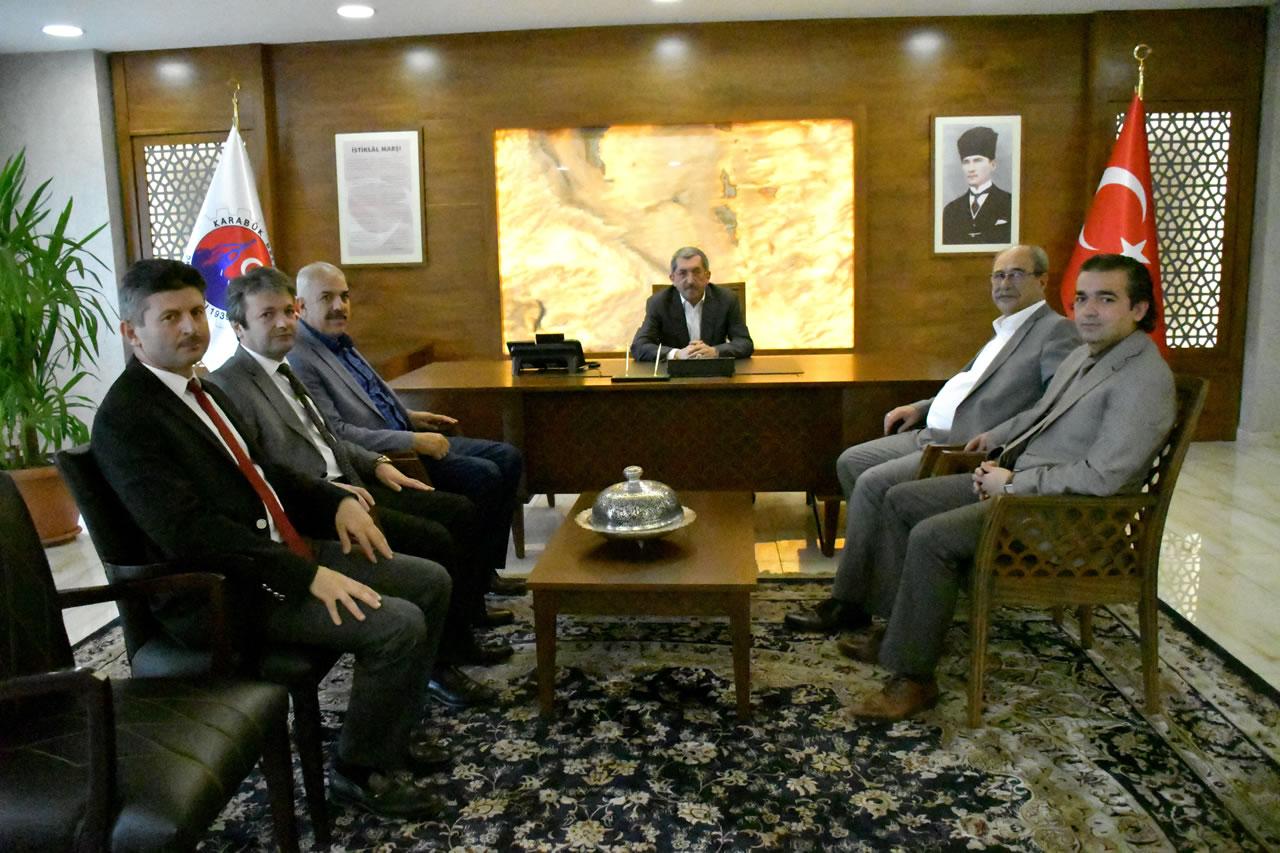 Emirsüleymanoğlu, Karataş, Saygın, Demir ve Eren'den Başkan Vergili´ye Hayırlı Olsun Ziyareti