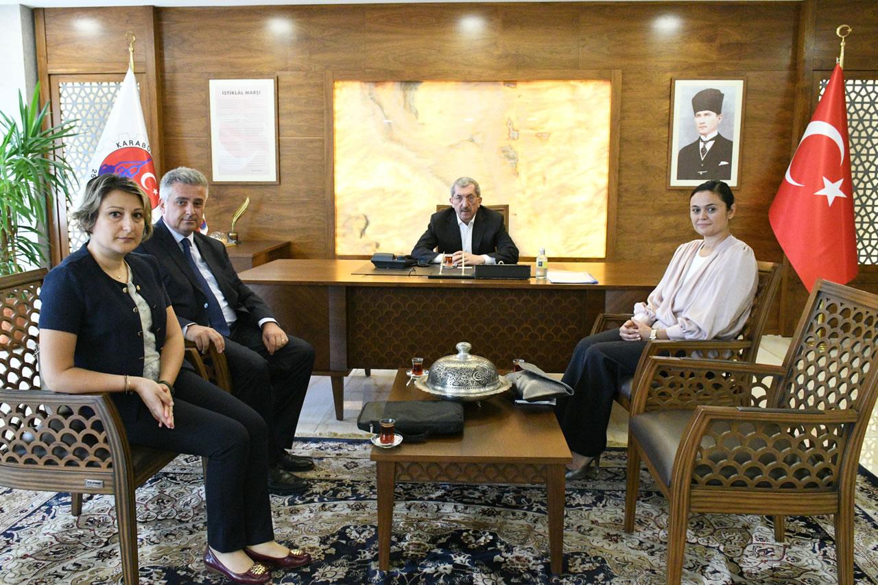 DenizBank Karabük Şube Müdürü Karaman´dan Başkan Vergili´ye Ziyaret