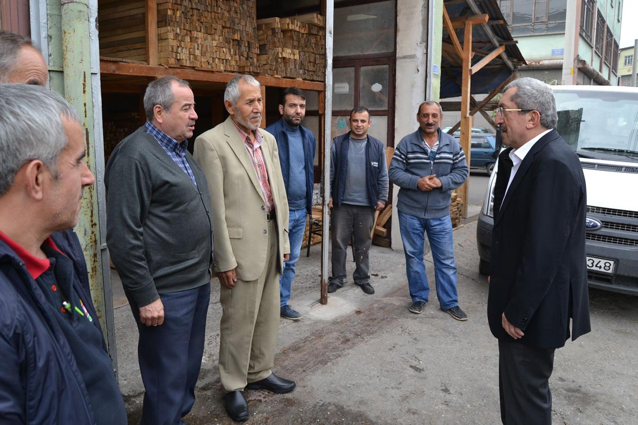 Başkan Vergili Bağ-Essan Sanayi Sitesi Esnaf Ziyaretlerini Tamamladı