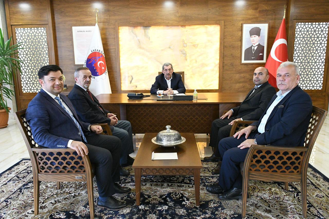 Hasankadı Belediye Başkanı Emiroğlu'ndan Başkan Vergili´ye Ziyaret