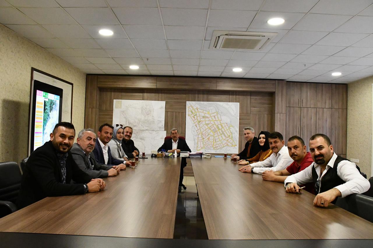 Karabük Berberler ve Kuaförler Odasından Başkan Vergili'ye Hayırlı Olsun Ziyareti