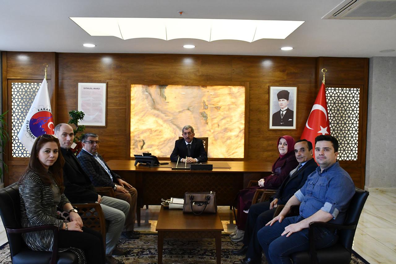 Karabük Halk Eğitim Müdürlüğünden Başkan Vergili'ye Hayırlı Olsun Ziyareti
