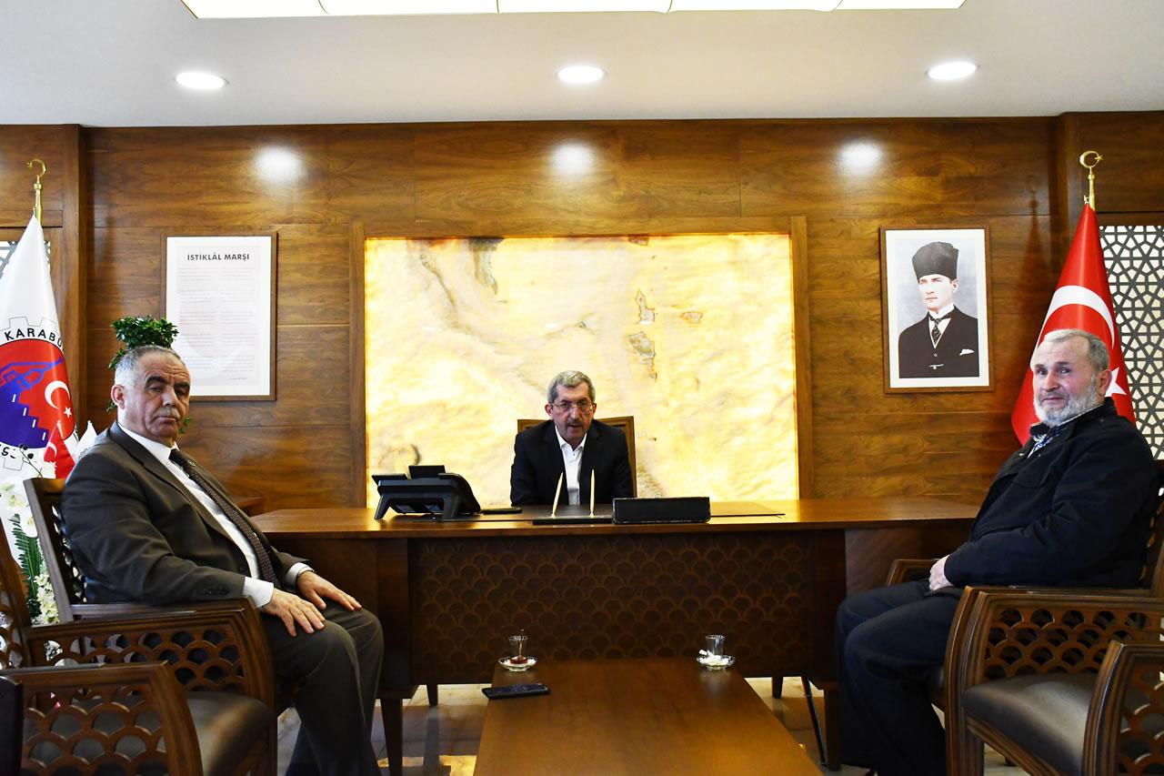 Yenice İlçe Müftüsü Mehmet Bayam´dan Başkan Vergili'ye Hayırlı Olsun Ziyareti