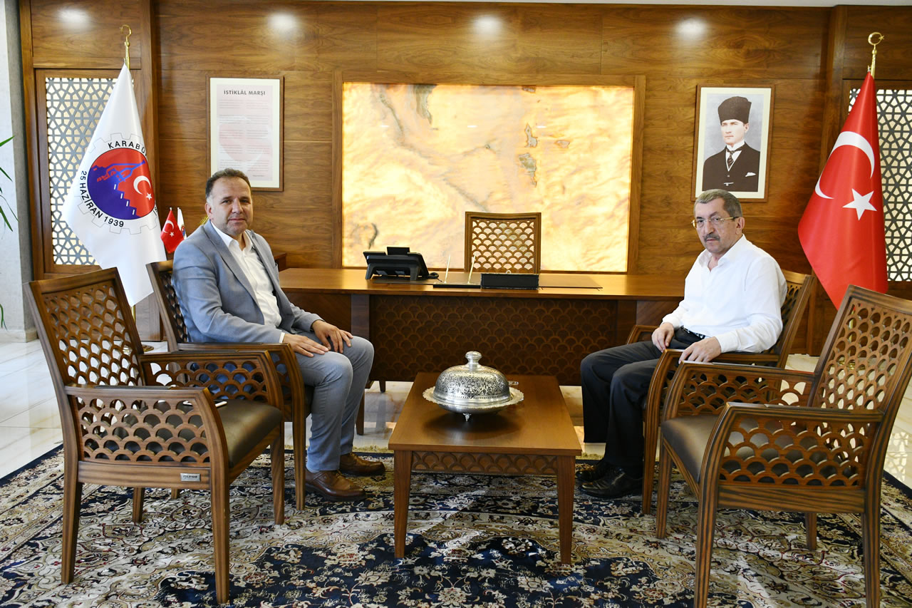 Bartın Kumluca Belediye Başkanı Can'dan Başkan Vergili'ye Ziyaret
