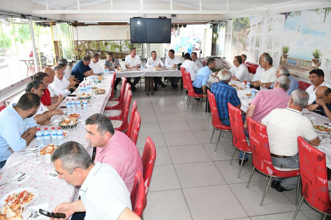 Seçim Sonrası İlk Muhtarlar Toplantısı Gerçekleştirildi
