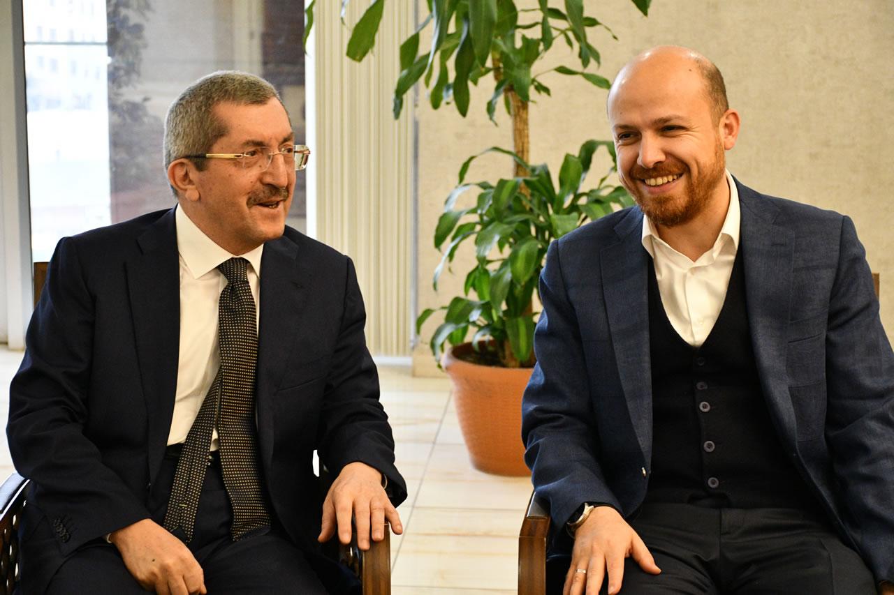 Erdoğan ve Heyetinden Başkan Vergili'ye Ziyaret