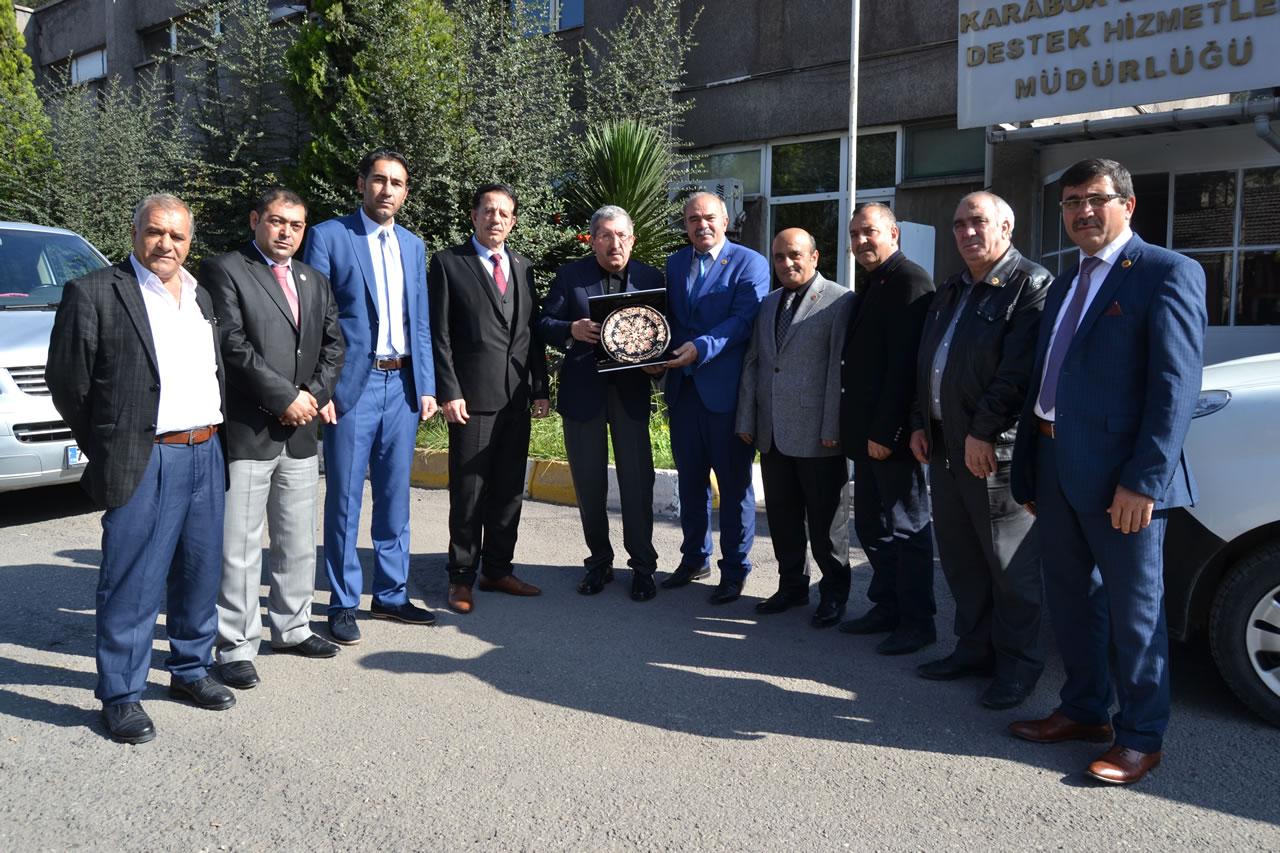Erzincan Muhtarlar Derneğinden Başkan Vergili'ye Ziyaret