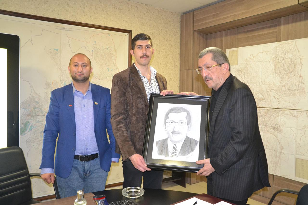 Azerbaycanlı KBÜ Öğrencilerinden Başkan Vergili´ye Ziyaret