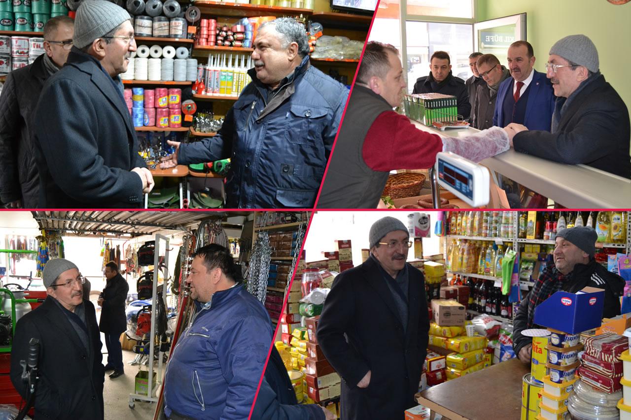 Başkan Vergili Esnaf Ziyaretlerine İnönü (Ankara) Caddesi ile Devam Etti