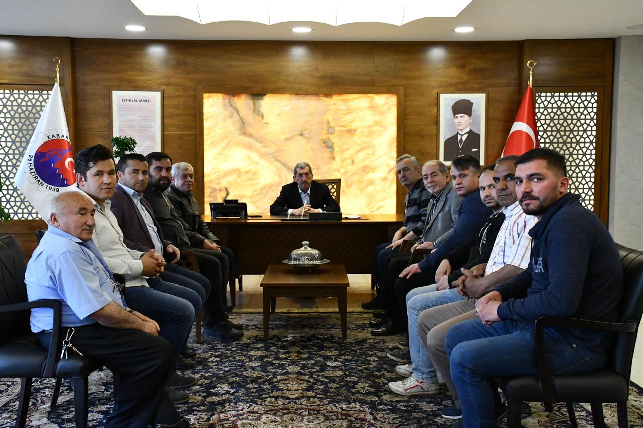 Antepoğlu Sanayi Sitesi esnaflarından Başkan Vergili'ye Hayırlı Olsun Ziyareti