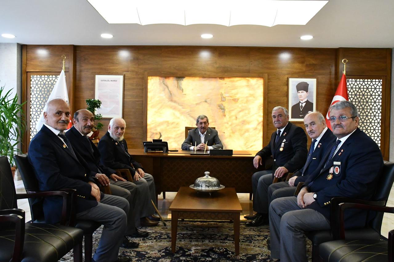 Türkiye Muharip Gaziler Derneği Karabük Şubesinden Başkan Vergili'ye Hayırlı Olsun Ziyareti