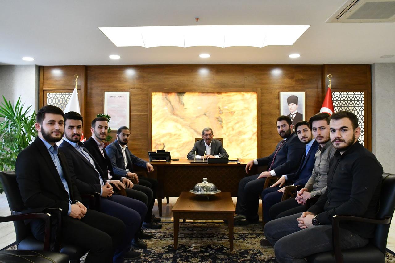 Milli Türk Talebe Birliği Karabük Şubesinden Başkan Vergili'ye Hayırlı Olsun Ziyareti