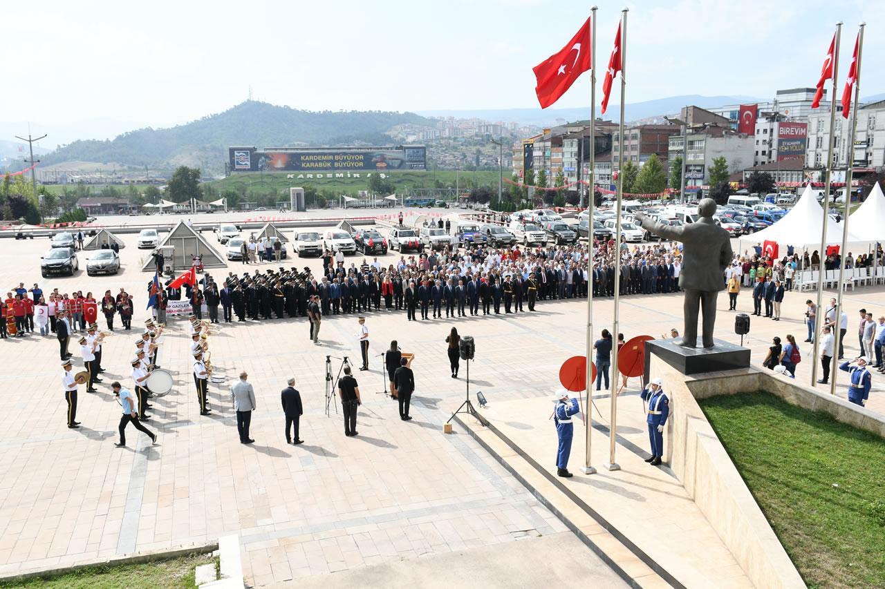 Karabük'te 30 Ağustos Zafer Bayramı´nın 97. Yıl Dönümü Kutlandı