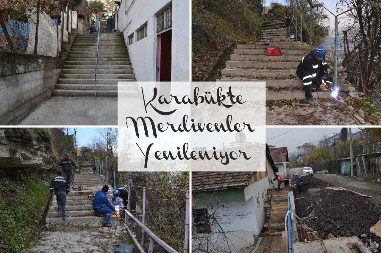 Karabük'te Merdivenler Yenileniyor