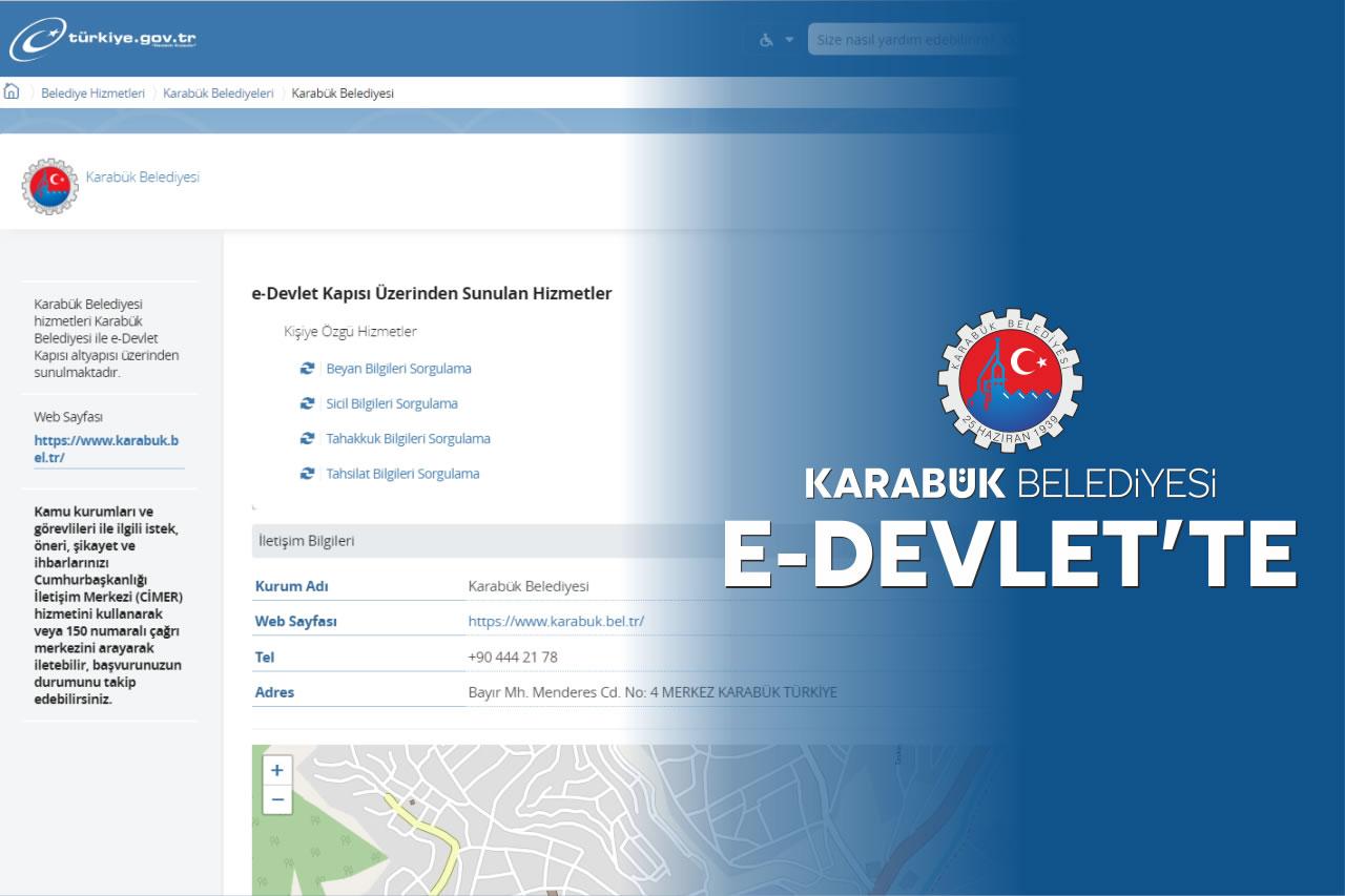 Karabük Belediyesi E-Devlet´te