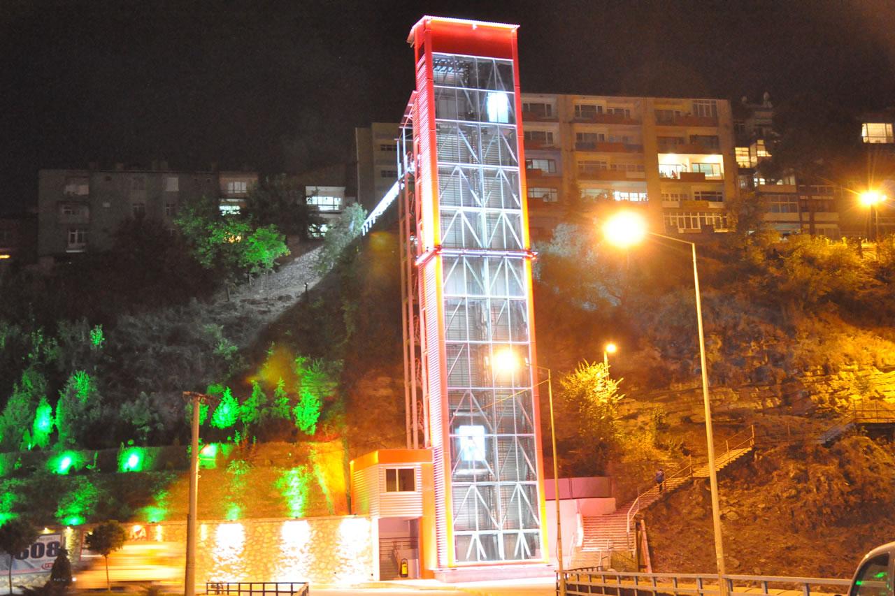 Kule Asansör (Kayabaşı Mahallesi) (05 Şubat 2011'de Hizmete Açıldı)