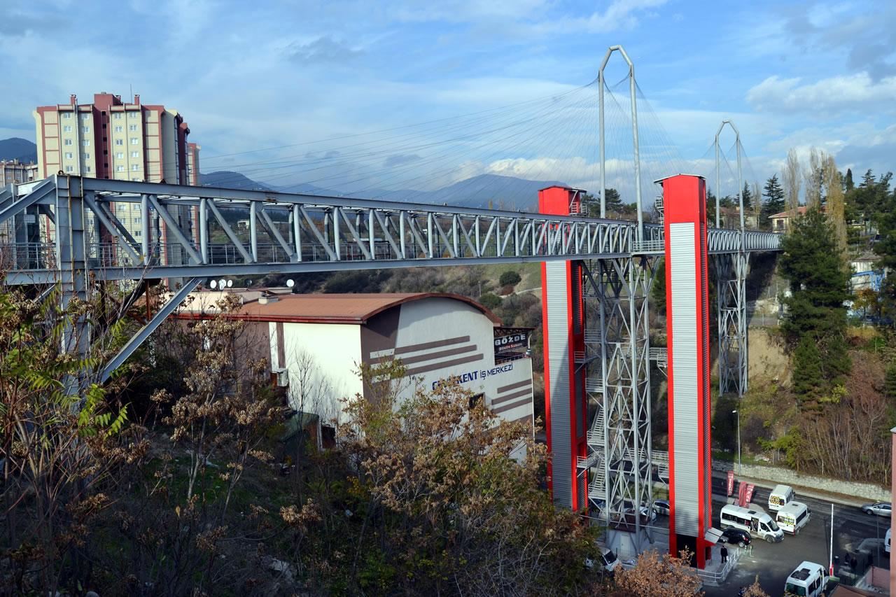 Kartaltepe – Yenişehir Arası Yaya Köprüsü Asansörü