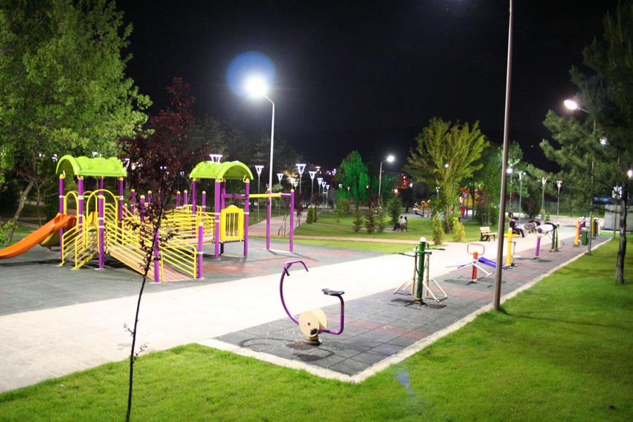 75. Yıl Parkı Aydınlatması