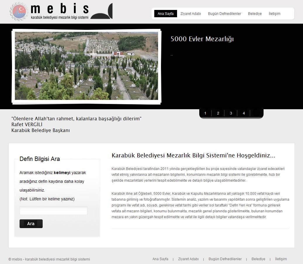 Mezarlık Bilgi Sistemi (Mebis)