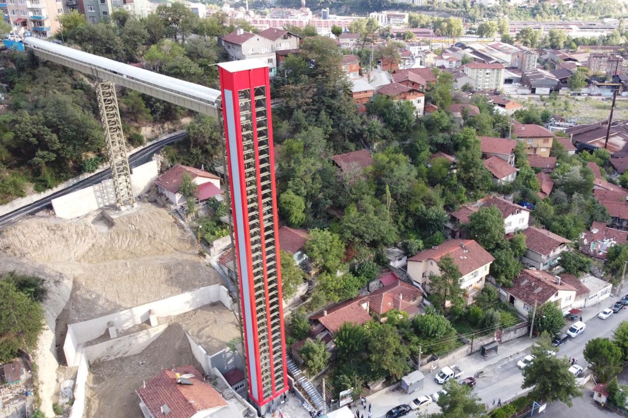 Namık Kemal Mahallesi Kule Asansör Projesi Hizmete Açıldı