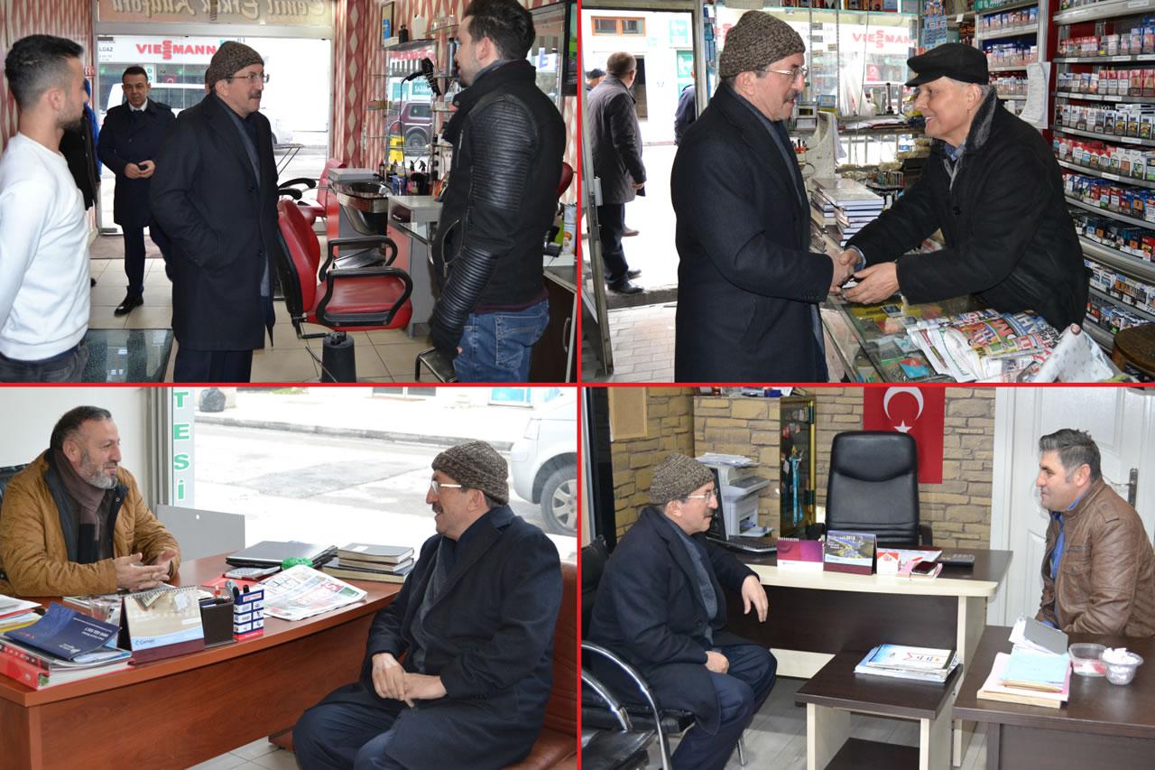 Başkan Vergili Esnafları Ziyaret Etti
