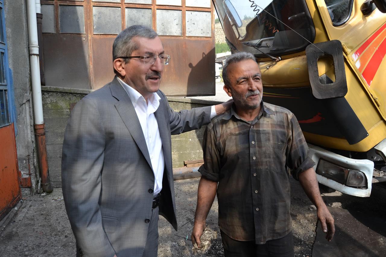 Başkan Vergili Cumayanı Sanayi Sitesi Esnaf Ziyaretlerini Tamamladı